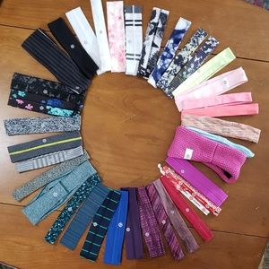LULULEMON 35 Headbands ALL Differant Patterns